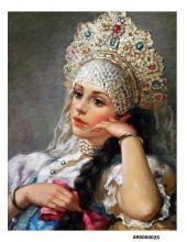 Рисовая бумага для декупажа Царевна формат А5, АртДекупаж Россия
