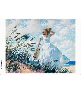 Рисовая бумага для декупажа Девушка у моря формат А5, Россия