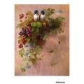 Рисовая бумага для декупажа Ежевика и птицы формат А5, АртДекупаж Россия