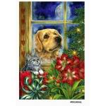 Рисовая бумага для декупажа Собака у окна формат А5, АртДекупаж Россия