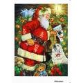 Рисовая бумага для декупажа Санта с подарками, формат А5, АртДекупаж Россия