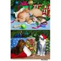 Рисовая бумага для декупажа Новогодние собаки и кошки, формат А5, АртДекупаж Россия