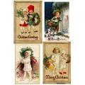Рисовая бумага для декупажа Рождественские винтажные детки формат А5, АртДекупаж Россия