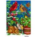 Рисовая бумага для декупажа Зайчик и зимние птицы формат А5, АртДекупаж Россия