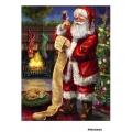 Рисовая бумага для декупажа Санта со списком формат А5, АртДекупаж Россия