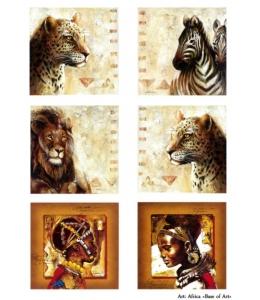 Декупажная карта А3 Africa, Base of Art (Россия)