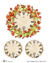 Декупажная карта А3 Antiques clock 2, Base of Art (Россия)