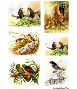 Декупажная карта А3 Birds 2, Base of Art (Россия)