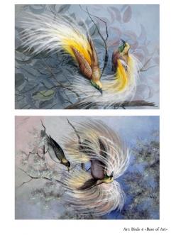 Декупажная карта Птицы 4, формат А4 , Base of Art