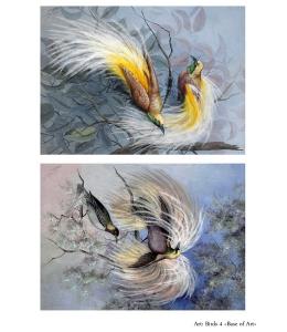 Декупажная карта А4 Birds 4, Base of Art