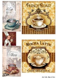 Декупажная карта Кафе, формат А4 , Base of Art