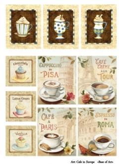 Декупажная карта Европейское кафе, формат А4 , Base of Art