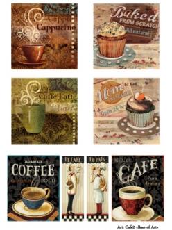 Декупажная карта Кафе 2, формат А4 , Base of Art