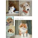 Декупажная карта А4 Cat & Dog, Base of Art new (Россия)
