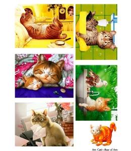Декупажная карта А4 Cat 3, Base of Art