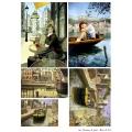 Декупажная карта А3 Dreams of paris, Base of Art new (Россия)
