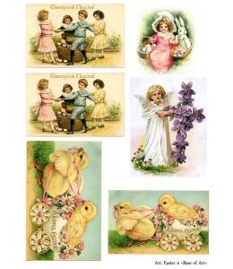 """Декупажная карта Base of Art, формат А3, """"Easter 4"""""""