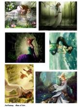 Декупажная карта А4 Fantasy, Base of Art