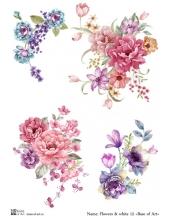 Декупажная карта А4 Flowers & white 12, Base of Art