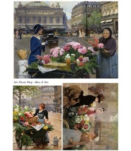 Декупажная карта А4 Flower Shop, Base of Art