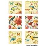 Декупажная карта А3 Garden Birds, Base of Art new (Россия)