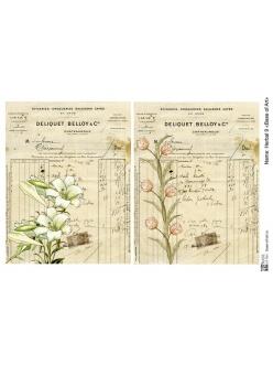 Декупажная карта Herbal 9, формат А4 , Base of Art