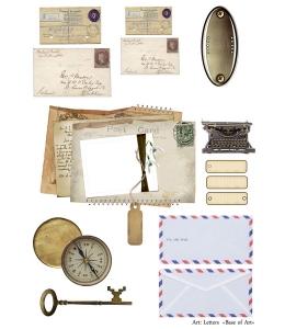 Декупажная карта А3 Letters, Base of Art (Россия)