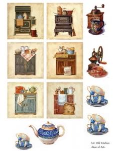 "Декупажная карта Base of Art, формат А3, ""Old Kitchen"""