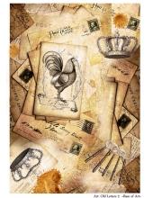 Декупажная карта А3 Old Letters, Base of Art (Россия)