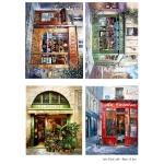 Декупажная карта А3 Paris cafe, Base of Art new (Россия)