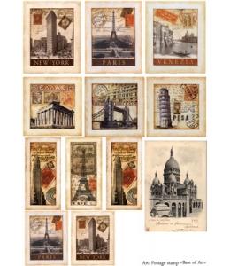 Декупажная карта А3 Postage Stamp, Base of Art (Россия)