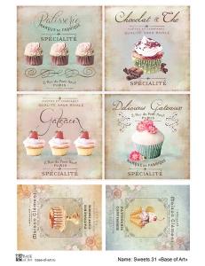 Декупажная карта А3 Sweets 31, Base of Art (Россия)