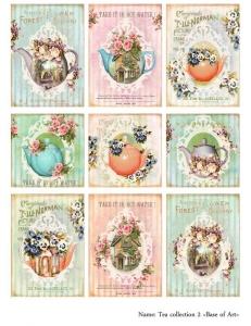Декупажная карта А3 Tea collection 2, Base of Art (Россия)