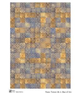Декупажная карта А4 Texture Tile 4, Base of Art