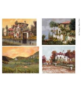 Декупажная карта А4 Tuscany 5, Base of Art