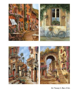Декупажная карта А4 Tuscany 6, Base of Art