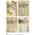 Декупажная карта А3 Vintage insects 4, Base of Art new (Россия)