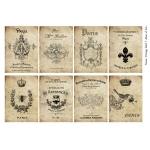 Декупажная карта А3 Vintage Label 7, Base of Art new (Россия)