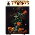 Рисовая бумага для декупажа 160063 Натюрморт  с маками, А4, Бижу-Мастер, Россия