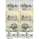 Рисовая бумага для декупажа 160177 Цветы, А4, Бижу-Мастер, Россия