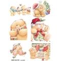 Рисовая бумага для декупажа 160203 Рождественские медвежата, А4, Бижу-Мастер, Россия