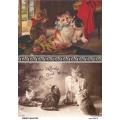 Рисовая бумага для декупажа 160370 Винтажные котята, А4, Бижу-Мастер, Россия
