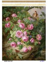 Рисовая бумага для декупажа Цветущие розы, А4, Россия