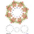 Рисовая бумага для декупажа 160373 Часы с розами, А4, Бижу-Мастер, Россия