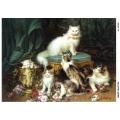 Рисовая бумага для декупажа 160395 Кошки, А4, Бижу-Мастер, Россия