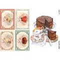 Рисовая бумага для декупажа 160403 Сладости, А4, Бижу-Мастер, Россия