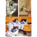 Рисовая бумага для декупажа 160414 Милые котята, А4, Бижу-Мастер, Россия