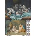 Рисовая бумага для декупажа 160422 Котята на кухне, А4, Бижу-Мастер, Россия