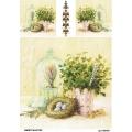Рисовая бумага для декупажа 160454 Зелень, А4, Бижу-Мастер, Россия