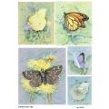 Рисовая бумага для декупажа 160532 Бабочки 2, А4, Бижу-Мастер, Россия